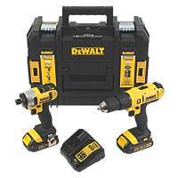 DeWalt DCZ298S2T-GB 18V 1.5Ah Li-Ion XR  Cordless Combi Drill & Impact Driver Twin Pack
