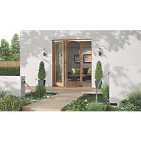 Jeld-Wen Canberra 2-Door Stained Golden Oak Wooden Bi-Fold Patio Door Set 2094 x 1794mm