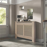 Contemporary Suffolk Radiator Cabinet Medium Natural MDF 1195 x 200 x 900mm