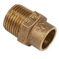 Yorkshire  Brass Solder Ring Adapting Male Coupler 15mm x ½""