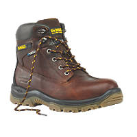 DeWalt Titanium Safety Boots Tan Size 10