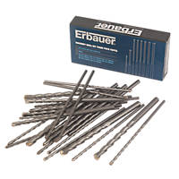 Erbauer Straight Shank Masonry Drill Bit Trade Pack 45 Pieces