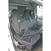 Van Guard Universal Single & Double-Seat Covers Black 2 Pcs