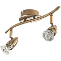 Inseki 2-Light Spotlight Brass 220-240V