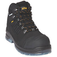 Site Natron   Safety Boots Black Size 8