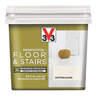 Liberon V33 Floor & Stair Paint Cotton Off-White 750ml