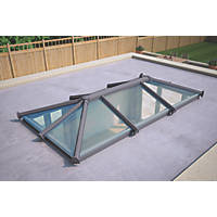 ATT Fabrications Ltd Clear Glass Roof Lantern Grey 3000 x 1500mm