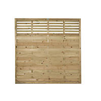 Forest Kyoto  Lattice Top Fence Panels 6 x 6' Pack of 9