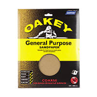 Oakey  Glass Paper Unpunched 280 x 230mm 40 Grit 5 Pack