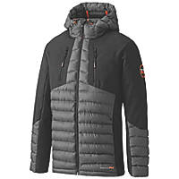 "Timberland Pro Hypercore Hybrid Softshell Insulated Jacket Grey / Black X Large 48"" Chest"