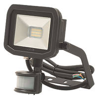 Luceco Guardian LED Floodlight & PIR Black 8W Cool White