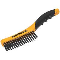 Roughneck Soft-Grip Shoe Handle Wire Brush
