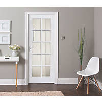 Jeld-Wen  10-Semi-Translucent Light Primed  Wooden Shaker Internal Door 1981 x 762mm