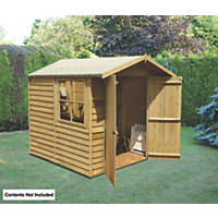 "Shire  6' 6"" x 9' 6"" (Nominal) Apex Overlap Timber Shed"