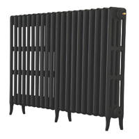 Arroll  4-Column Cast Iron Radiator 760 x 1114mm Black