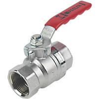 Pegler  Lever Ball Valve Red 1""