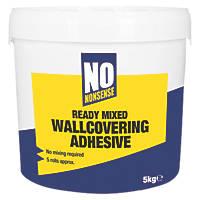 No Nonsense  Extra Strong Ready-Mixed Wallpaper Adhesive 5 Roll Pack