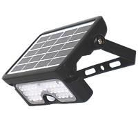 Luceco LEXSF6B40-01 LED PIR Solar Wall Light Black 550lm