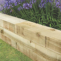 Forest Landscaping Sleeper Natural Timber 2.4m 4 Pack