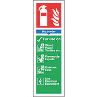 Nite-Glo  Dry Powder Extinguisher Sign 300 x 100mm