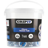 GripIt  Plasterboard Fixing 25 x 14mm 100 Pack