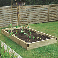 Forest Rectangular Raised Bed Natural Timber 1800 x 900 x 140mm
