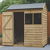 Forest  6' x 4' (Nominal) Reverse Apex Overlap Timber Shed with Base & Assembly