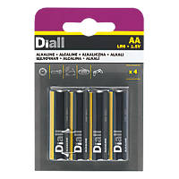 Diall  AA Batteries 4 Pack