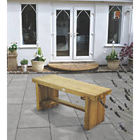 Forest Double Sleeper Garden Bench Softwood 1200 x 350 x 445mm