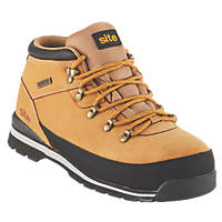 Site Meteorite Waterproof Safety Boots Tan Size 8