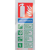 "Firechief  ""ABC Powder"" Fire Safety Sign 200 x 80mm"
