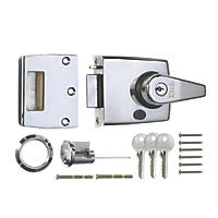 ERA 183-37-1 Double Locking Night Latch  Polished Chrome 40mm Backset