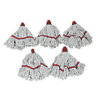 Bentley Blended Mix Yarn Mop Heads Red 5 Pack