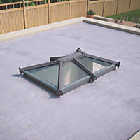 ATT Fabrications Ltd Clear Glass Roof Lantern Grey 1500 x 1000mm