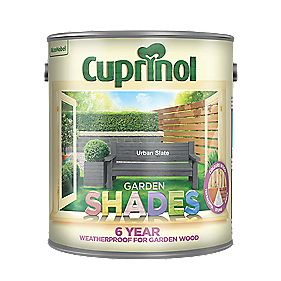 Cuprinol Garden Shades Woodstain Matt Urban Slate 2 5ltr Exterior Wood Paint