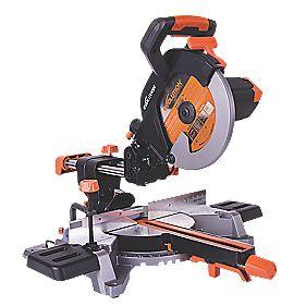 evolution r255sms 255mm single bevel sliding mitre saw 220. Black Bedroom Furniture Sets. Home Design Ideas