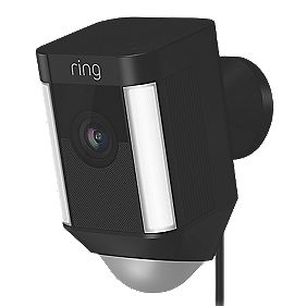 Ring Spotlight Camera Pir Black Smart Cctv Screwfix Com