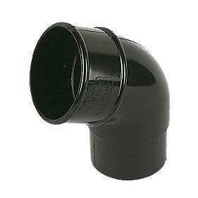 Floplast 112 5 176 Offset Bend 68mm Black Half Round