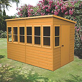 Shire 10 X 6 Nominal Pent Shiplap T Amp G Timber Shed