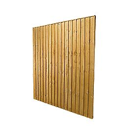 forest feather edge fence panels x 9 pack. Black Bedroom Furniture Sets. Home Design Ideas