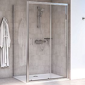 Aqualux Rectangular Shower Enclosure Amp Tray Reversible