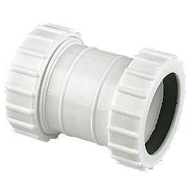 Floplast Wc07 Universal Compression Waste Straight Coupler White 32mm X 32mm Compression Waste
