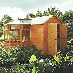 Rowlinson Schpot Potting Shed 3100 X 3200mm Wooden Sheds