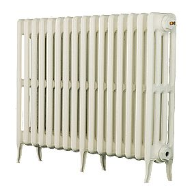 Arroll 4 Column Cast Iron Radiator 660 X 994mm White