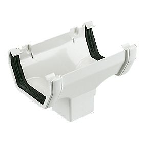 Floplast Square Line Running Outlet 114mm White Square