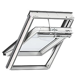 Velux Uk04 Solar Centre Pivot White Polyurethane Wrapped