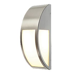 Convex Brushed S Steel Wall Light 40w Outdoor Wall Lights