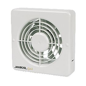 Manrose MG150BS 25W Kitchen Extractor Fan White 240V ...