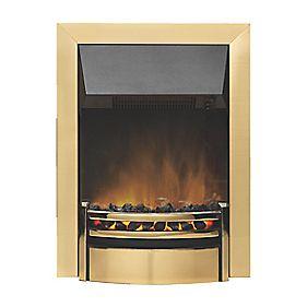 dimplex kansas brass switch control inset electric fire. Black Bedroom Furniture Sets. Home Design Ideas