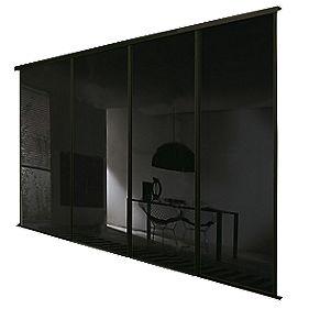 Spacepro Classic 4 Door Framed Glass Sliding Wardrobe
